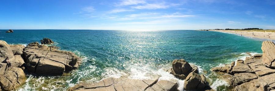 Panorama de la côte bretonne