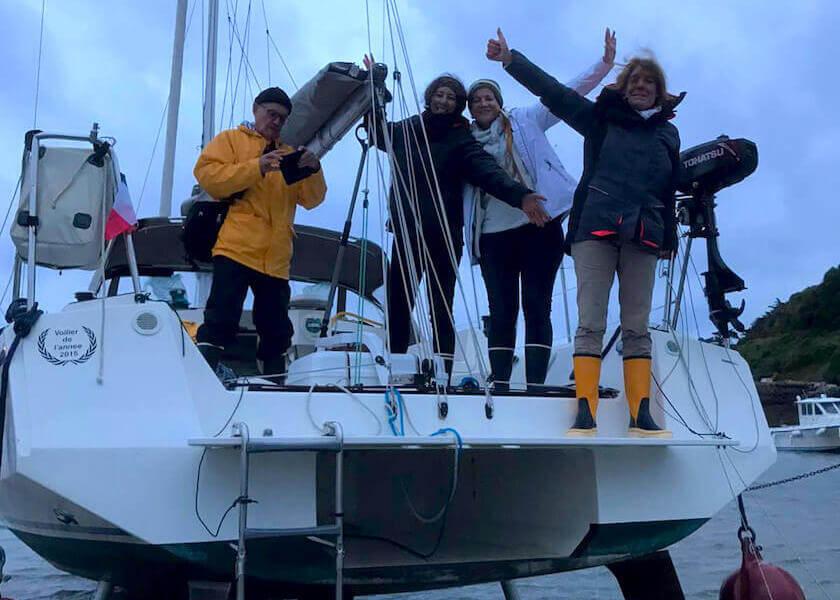 Jean Paul et son équipage sur un Mojito 888