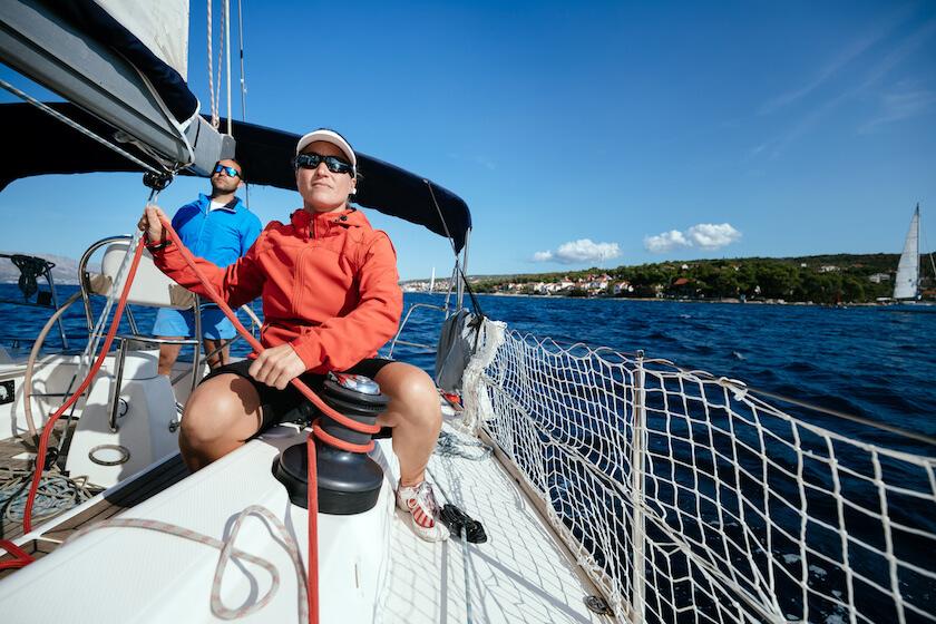 Skippers en pleine navigation