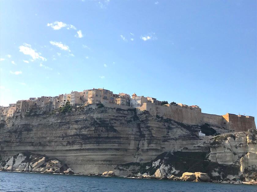 Vue sur la vieille ville de Bonifacio