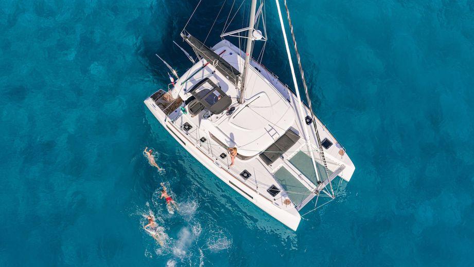 catamaran vue de haut