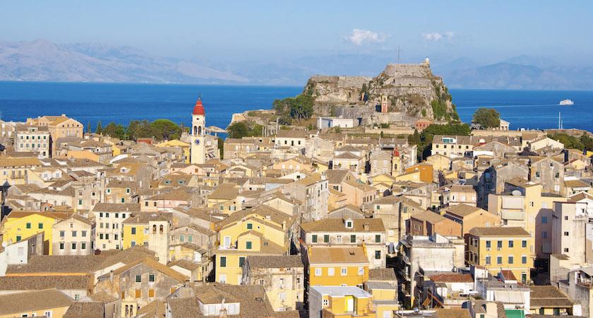 Vue sur la vieille ville de Corfou