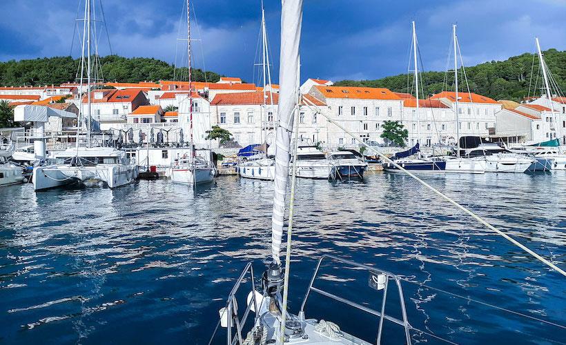 Port de Korčula, photo prise par Eric