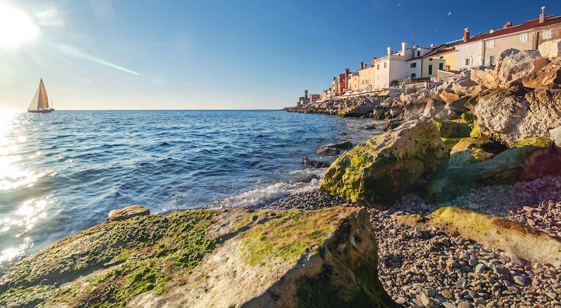 La costa della città di Pirano