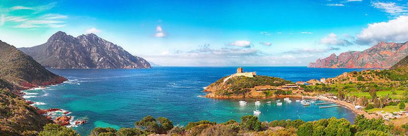 vue panoramique de Girolata