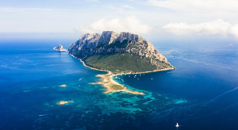 vista aerea dell'arcipelago di Tavolara