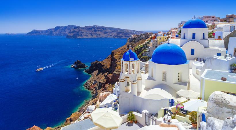 L'île de Santorin dans les Cyclades
