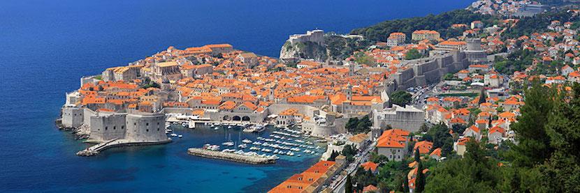 vue panoramique Dubrovnik
