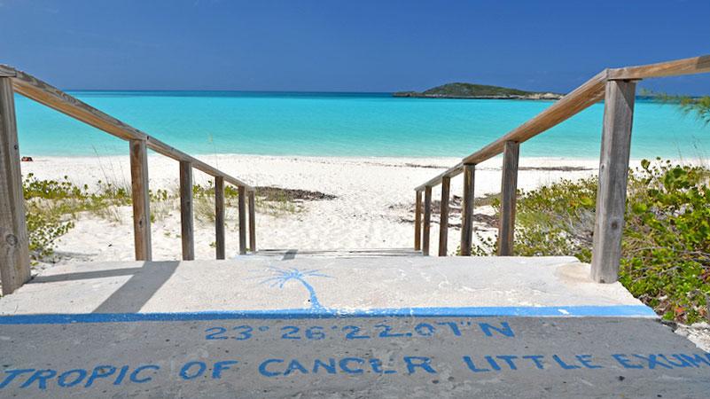 Passage du Tropique du Cancer à Little Exuma