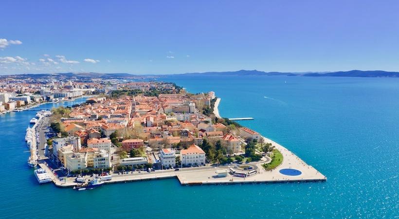 Vue panoramique de la ville de Zadar