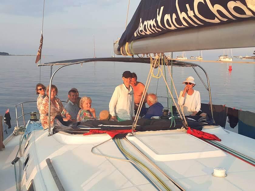 Philippe et son équipage sur un Cyclde 50.5