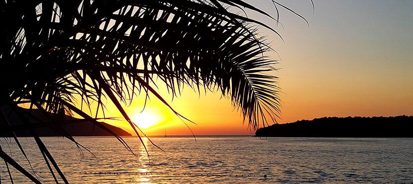 coucher de soleil à Stari Grad