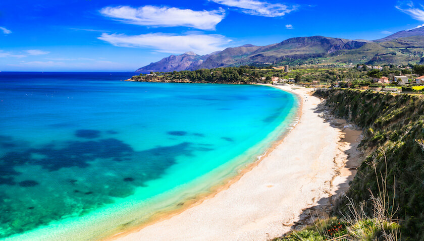 plage de Scopello au nord ouest de la Sicile