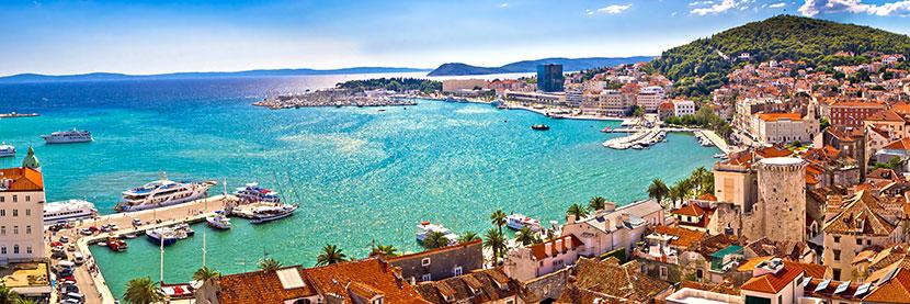 vue panoramique de Split