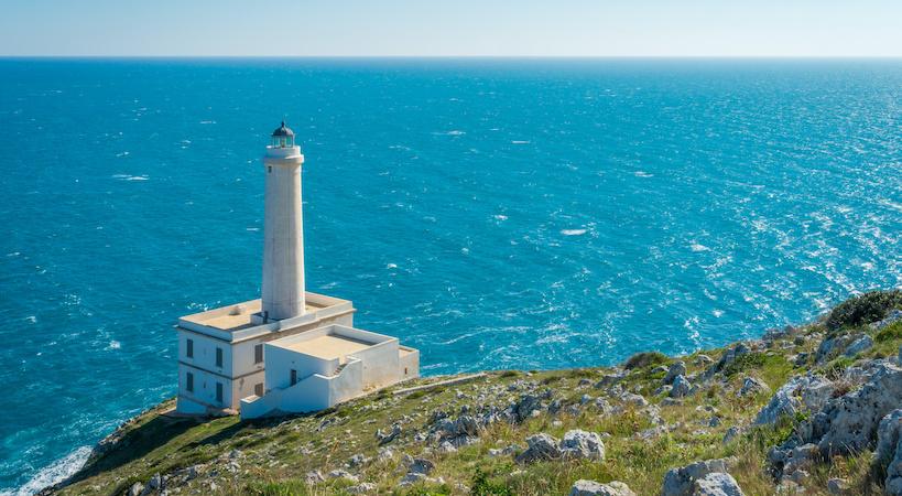 Il faro della Palascia situato sul Capo d'Otranto