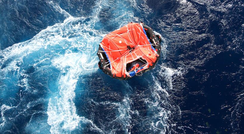 Radeau de survie en mer