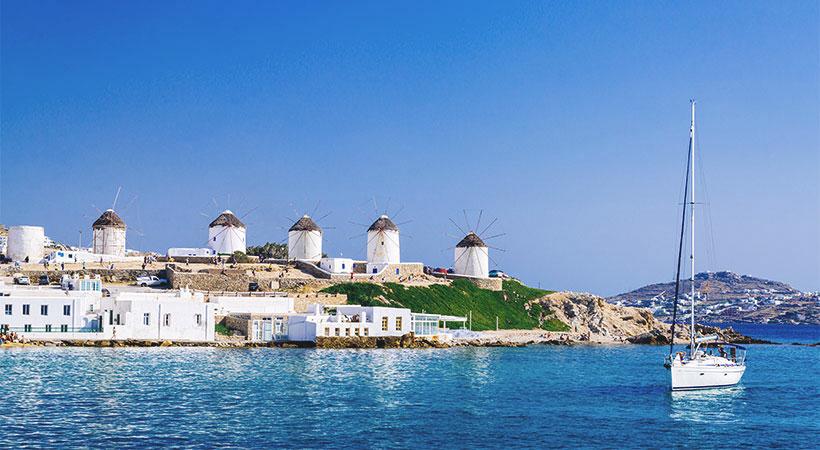 Découvrir les moulins typiques de l'île de Mykonos