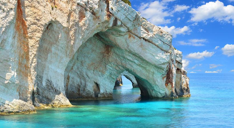 Blue cave de Zante