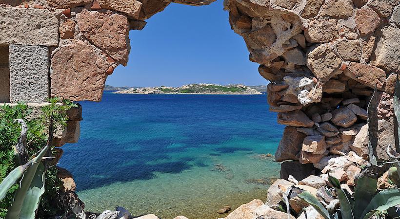 Vue sur l'archipel de La Maddalena