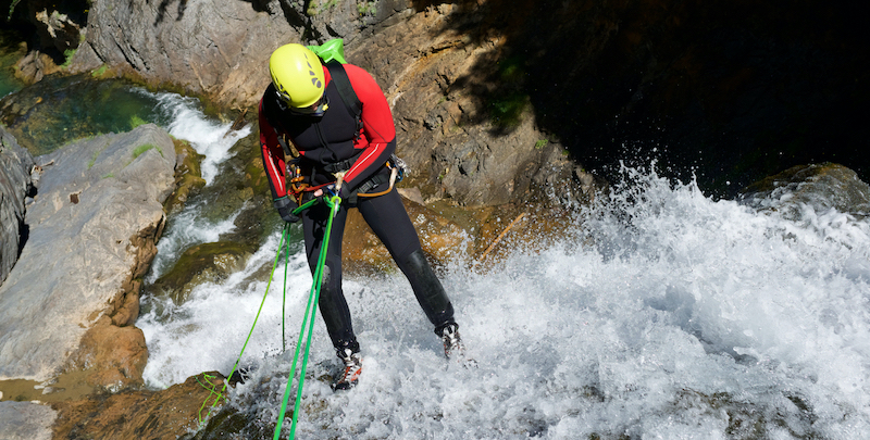 canyoning descente