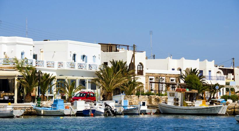 Port de pêcheur d'Antiparos