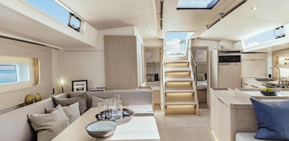 Intérieur du voilier Oceanis 54