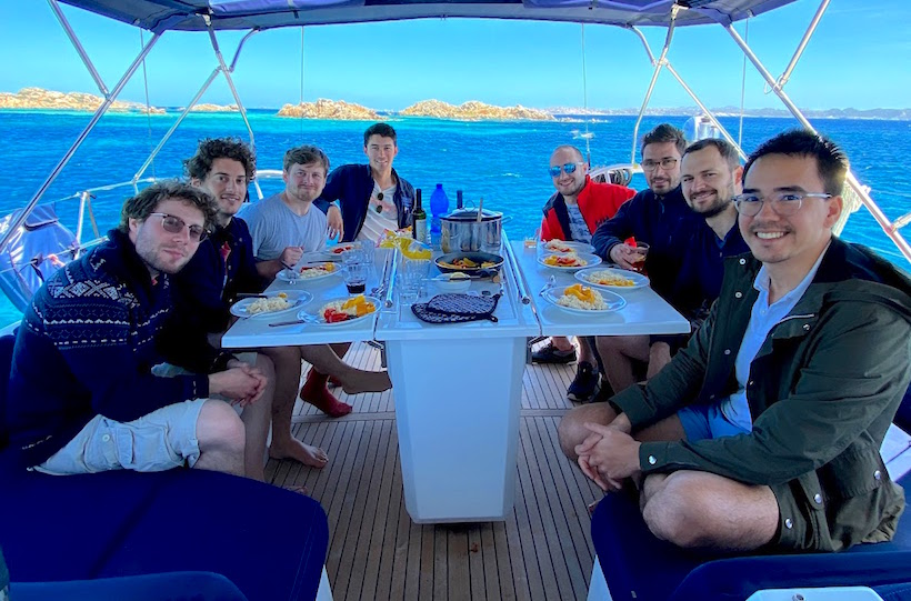 pausa pranzo arcipelago Maddalena