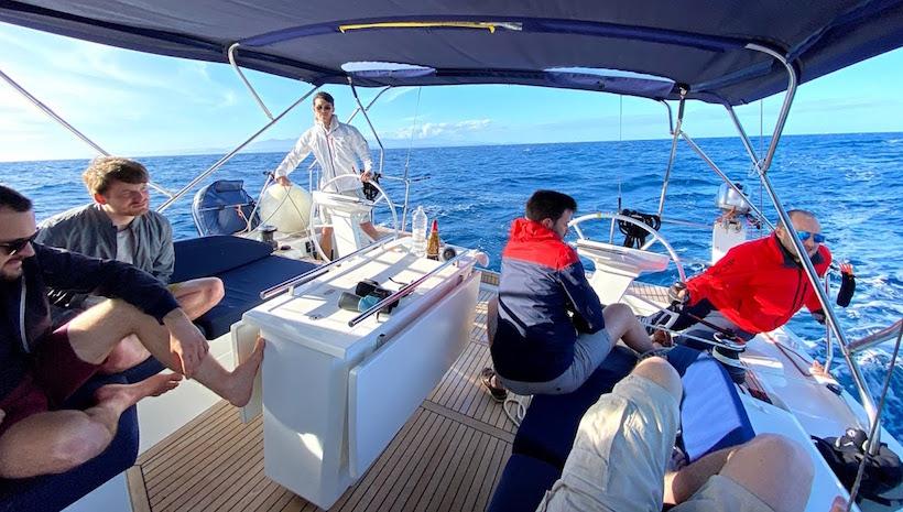 equipaggio in navigazione