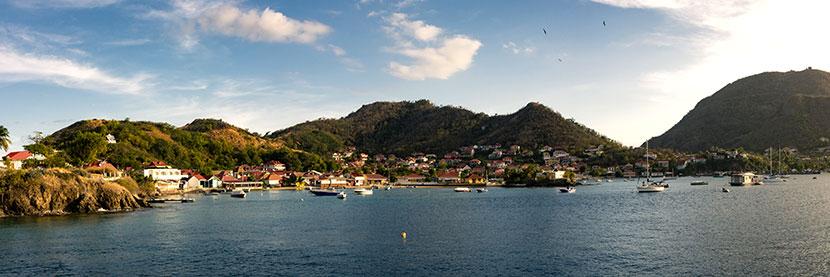 vue panoramique de la Guadeloupe