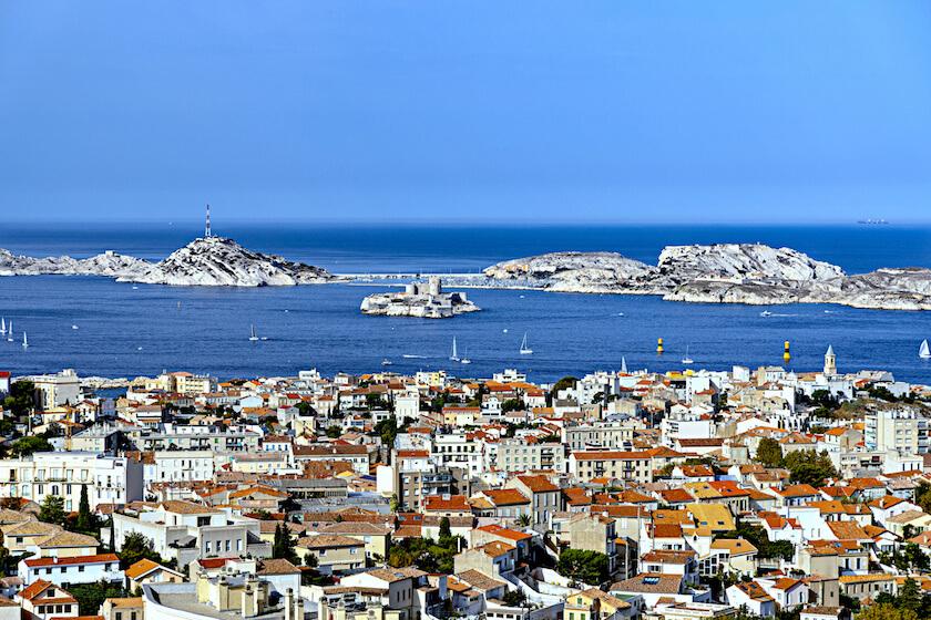 Les îles du Frioul vues de Marseille