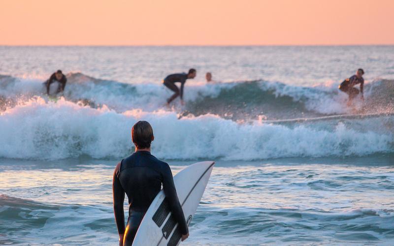 Surf entre amis